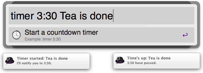 Timer extension screenshot