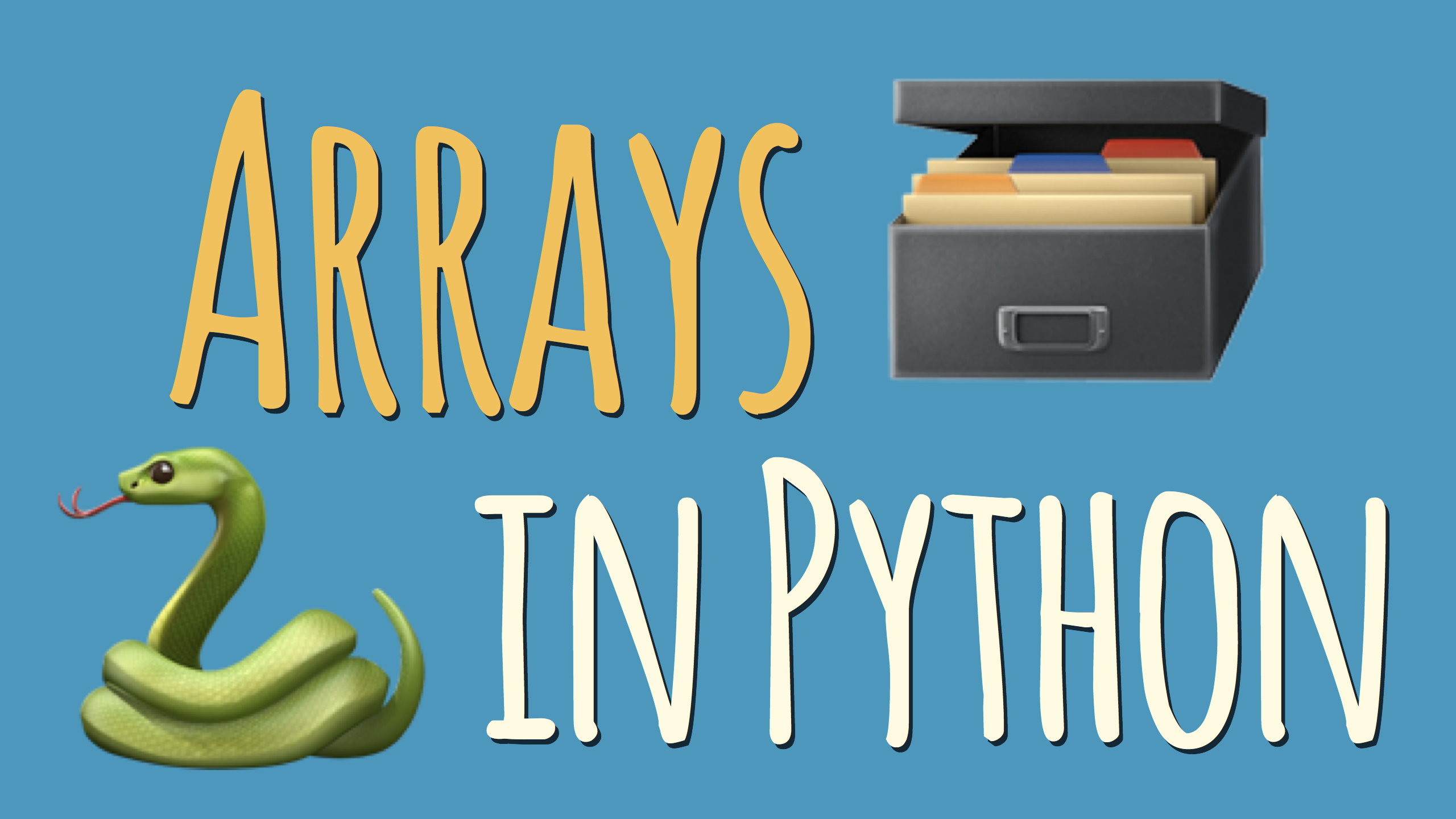 make empty array python