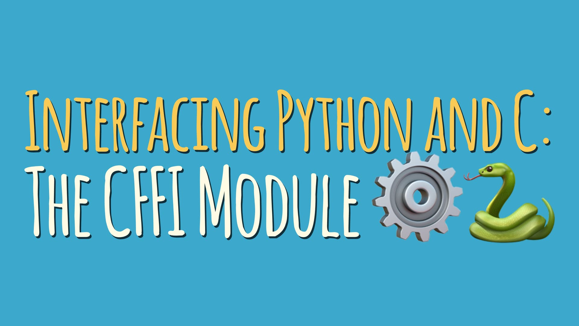 Interfacing Python and C: The CFFI Module