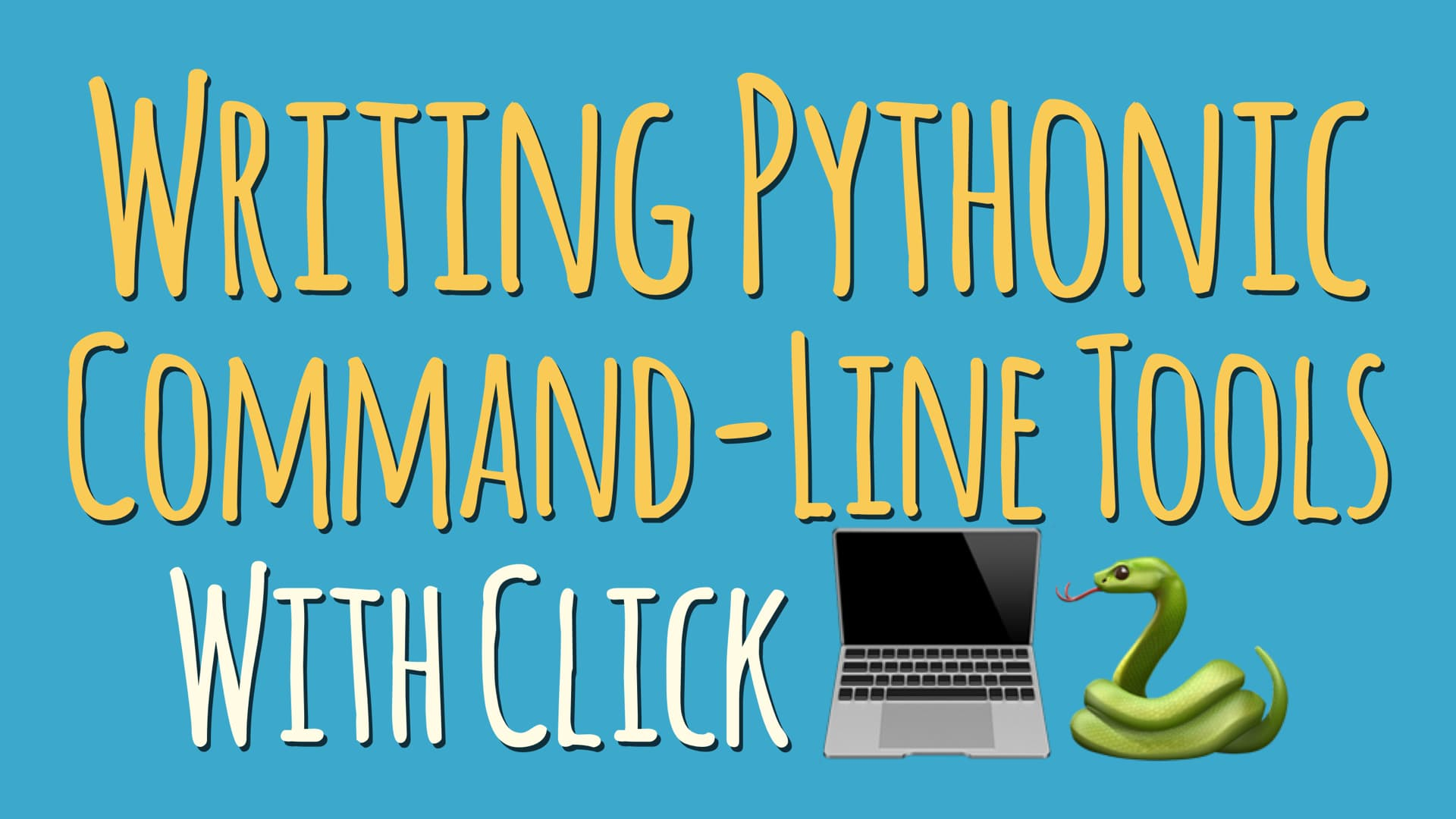 Writing Python Command-Line Tools With Click