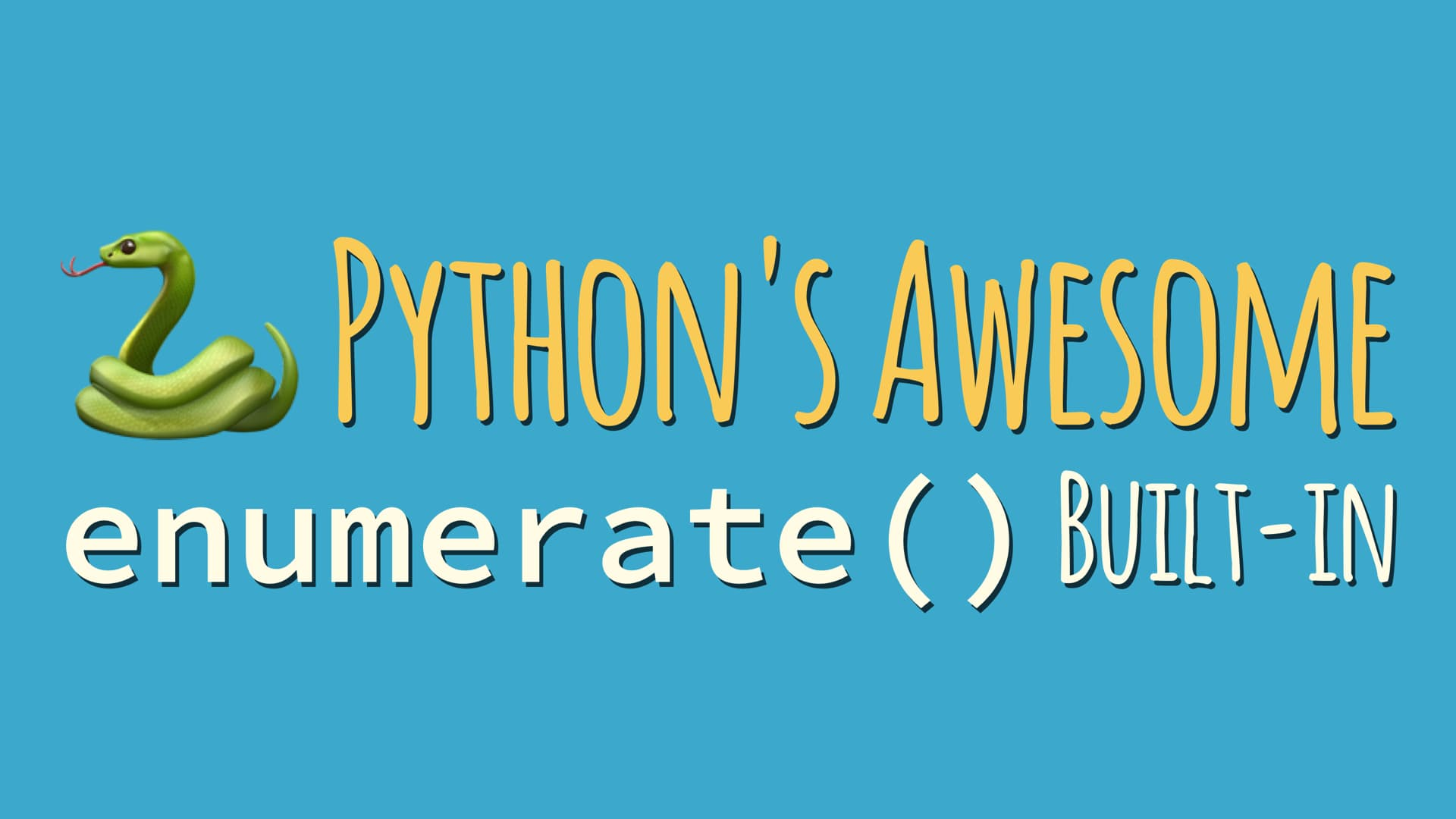 Python's enumerate built-in