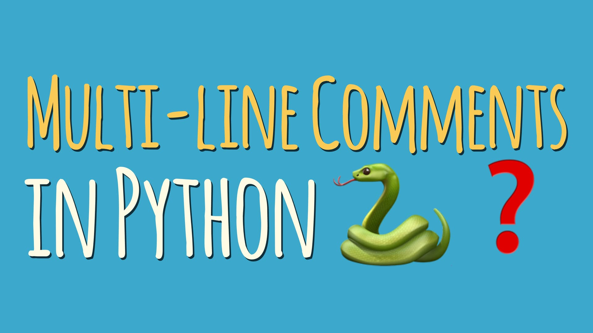 Python Multi-line Comments: Your Two Best Options – dbader org