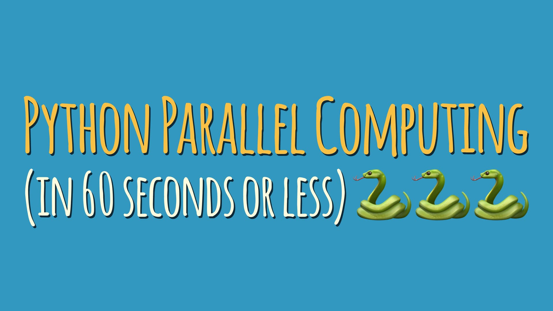 Python Parallel Computing (in 60 Seconds or less)