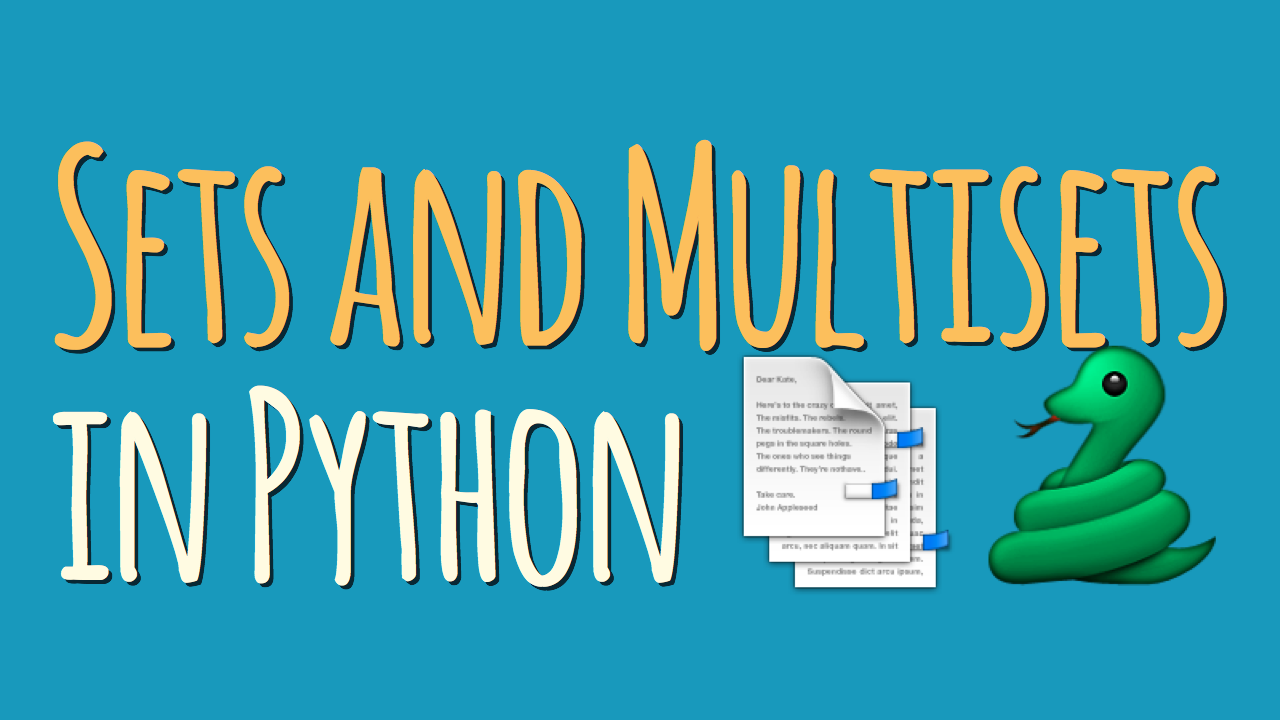 Sets and Multisets in Python