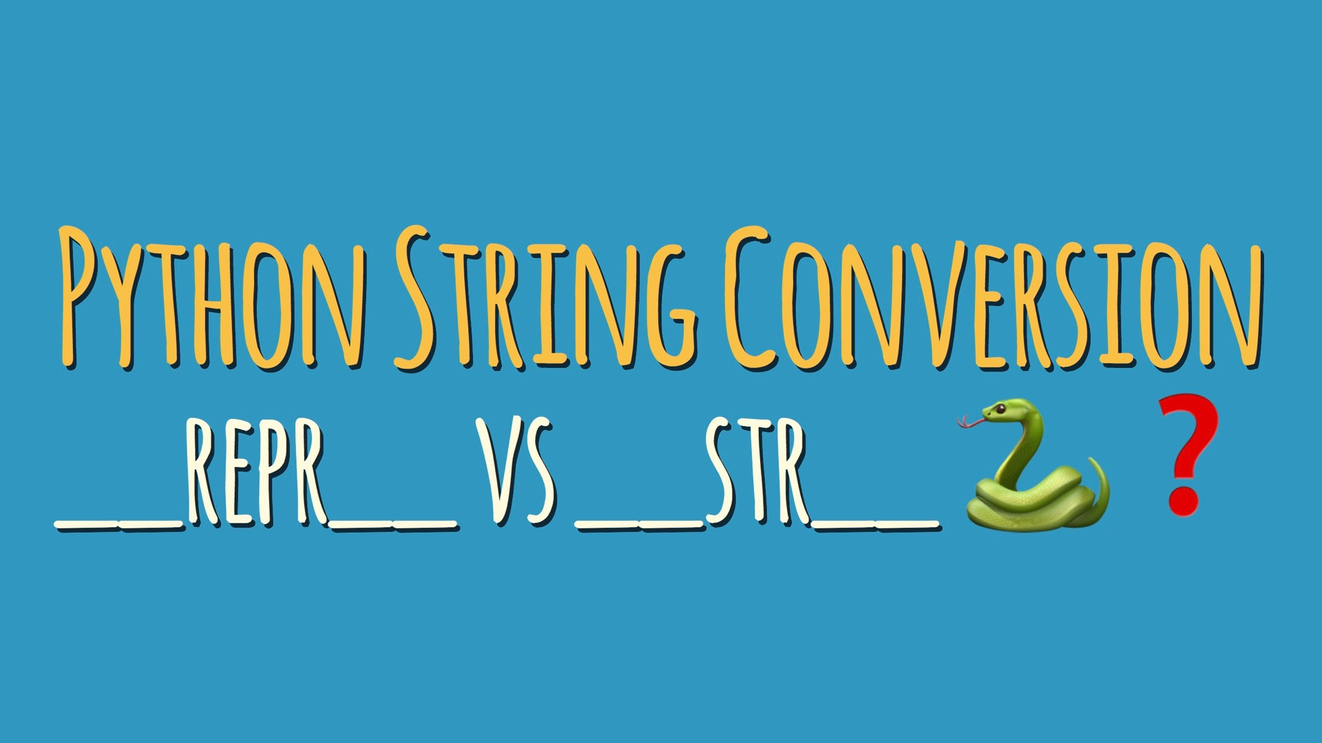 "Python String Conversion 101: Why Every Class Needs a ""repr"