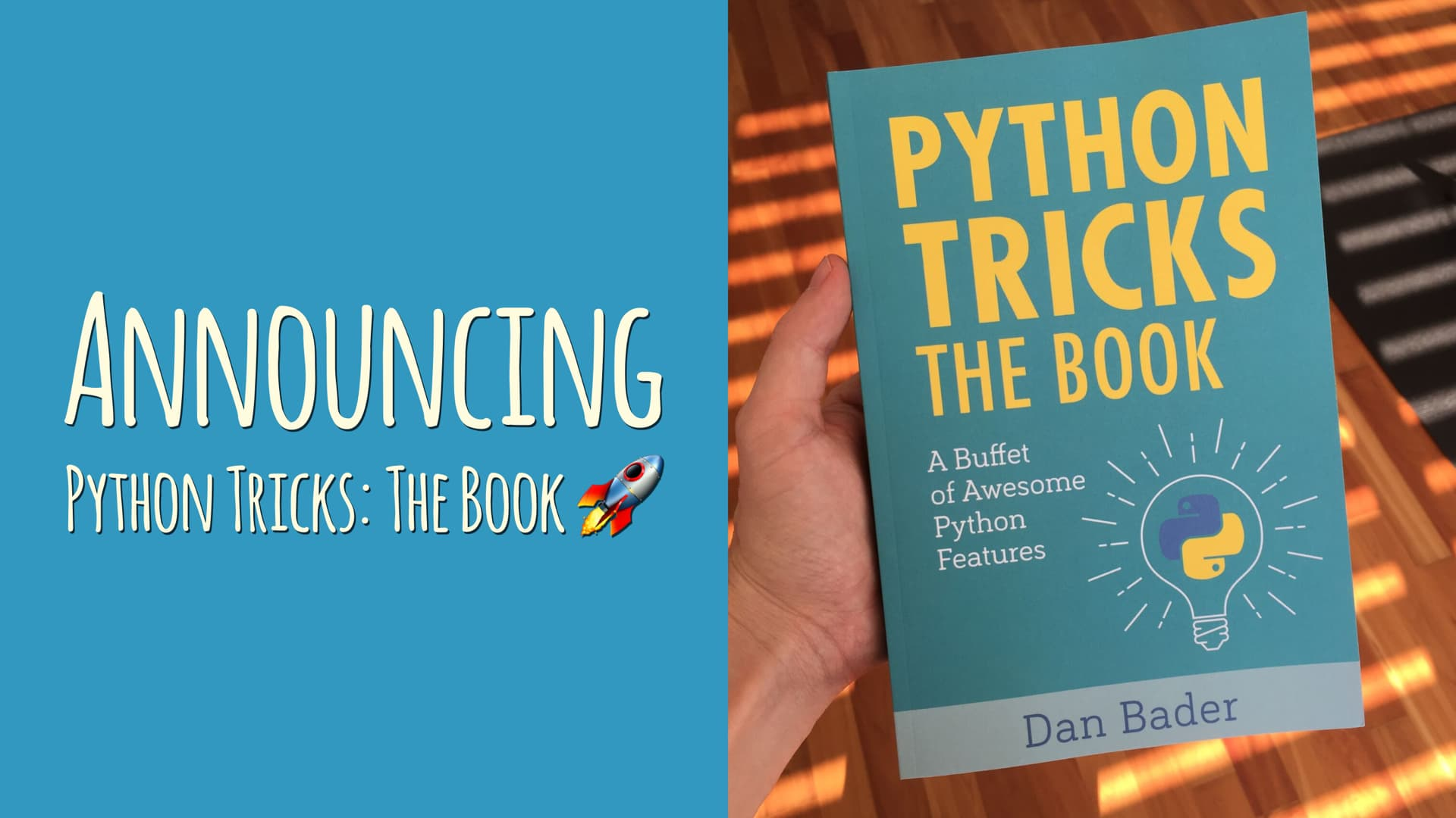 Announcing Python Tricks: The Book!