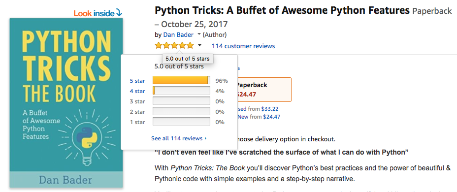 Python Tricks Reviews