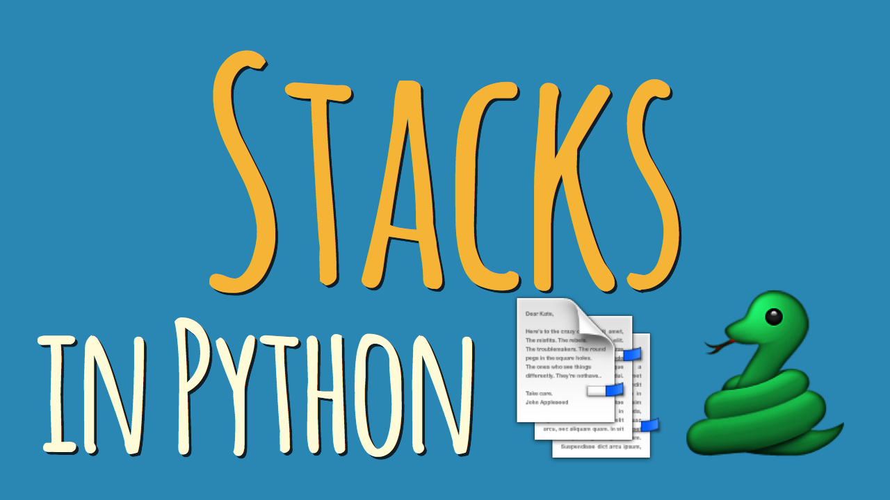 Stacks in Python