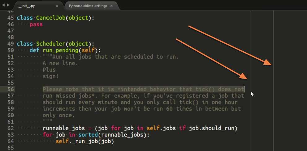 Sublime Text Settings for Writing Clean Python – dbader org