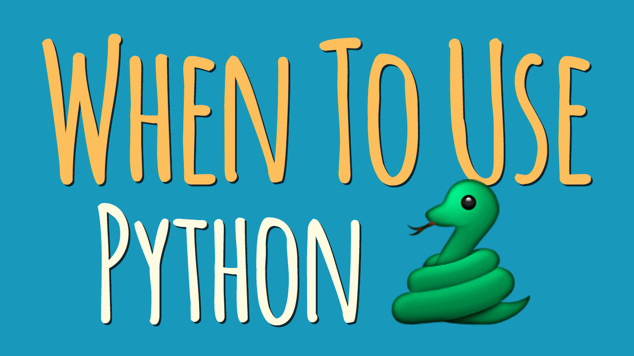 When to Use Python