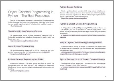 Python OOP Cheat Sheet